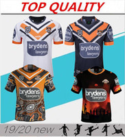 2019/20 Western Tigers Rugby camisas Nova Zelândia Rugby terno wests tigres jersey 2019/2020 Nacional Ligas West Tiger Home Rugby camisa