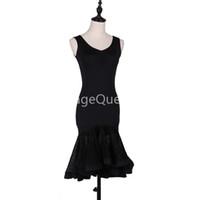 Черные Пользовательские женщины Профессиональной латинский танец платье для женщин бального танца конкурса Платье для взрослых Современного вальса танго Cha Cha Danc костюма