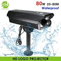 방수 옥외 80W HD LED 로고 빛 프로젝터 장거리 사용자 정의 고보 이미지 20-80M 거리 간판 표시 광고