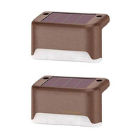 Solar Lamps Outdoor Fence garden Pathway Wall Light Waterproof Railing stair Step Lamp Use For Patio Stairs Garden Pathway