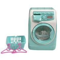 Ücretsiz Mini Pretend Oyna Oyuncak Simülasyon Çamaşır Makinesi Oyuncaklar Çocuk Hediyeler Dolum Su Mutfak Hediye