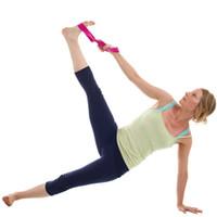 المرأة حزام اليوغا تمتد اليوغا تمتد الشريط حزام دائم بممارسة رياضة حبل تجريب اللياقة البدنية الخصر حزام حزام حزام
