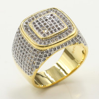 Victoria Wieck Sekt Deluxe Schmuck 925 Sterling Silbergold Fill Pave Micro White Clear Topaz CZ-Diamant-Hochzeits-Band-Ring für Männer Geschenk