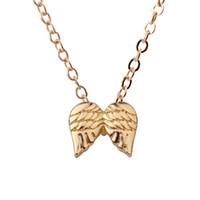 LQL الجارديان أجنحة الملاك سحر قلادة الذهب بالفضة قلادة الترقوة سلاسل بيان قلادة المرأة مجوهرات 3040