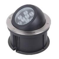 (10pcs / lot) justierbarer Winkel 6w 9w 12w15w 18W 24 Dimmable LED Untertageplattform-Licht-Lampe, vertiefter LED Inground PFEILER Untertage