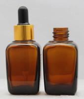 E cigarro vape âmbar vidro perfume óleo essencial garrafa eliquid quadrado 30 ml 30g conta-gotas garrafa frete grátis