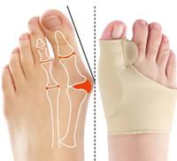 Bunion Corrector Hallux Valgus Zahnspange große Zehe Orthopädische Korrektur Socken Zehen Separator Feet Schmerz Protect Entlasten Knochen Thumb Sleeve P211-1
