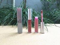 Frete Grátis Epacket Novos Lábios Maquiagem Prata / Caixa De Ouro Matte Líquido Batom Não-Stick Cup Lip Gloss! 12 cores diferentes