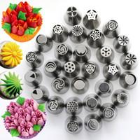 Paslanmaz Çelik Rus Lale Memeleri Fondan Buzlanma boru İpuçları Pasta Tüpler Kek Dekorasyon Araçları Gül Çiçek Şekilli
