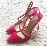 Rose Patent couro preto S-bandagem vermelha cúspide Sandálias Belas salto das mulheres sapatos de salto alto de 10cm grande tamanho 44 noiva boate sapatos de fundo vermelho