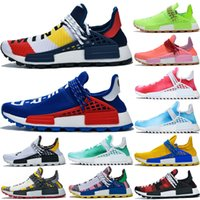 New Adidas Pharrell human race L4ND Afro Hu Trial Solar Pack NERD men women running shoes holi Core black sports sneakers 5-12