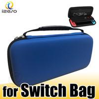 Para Nintendo interruptor de la tarjeta duradero Juego Lite bolsa de almacenamiento caso que lleva duro EVA bolsa de Shell al aire portátil que lleva el bolso de la bolsa de protección izeso