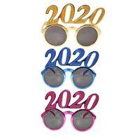 2020 Количество фото Prop очки Flash-порошок Пластиковые очки Новый год Взрослые Дети очки для украшения партии 3ЦВЕТА RRA2564