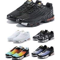 Hot Sale Plus III 3 TN Mens TUNED Airs Running Shoes Classic Outdoor Tn Black White Sport Shock Sneakers Men Requin Blue Spider