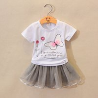 20019 girls clothing set new summer fashion cotton t- shirt +...