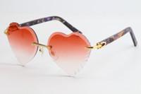 2020 Selling New Rimless Sunglasses Marble Plank Sunglasses 3524012 Top Rim Focus Eyewear Slim and Elongated Triangle Lenses Unisex