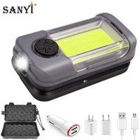 Magnetic Luz Trabalhar, Branco, Vermelho COB LED portátil Lanterna Worklight USB recarregáveis de trabalho Lâmpada Luzes de emergência