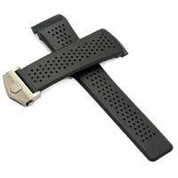 Watch Band VENDITA CALDA Sport Watch bands 22 millimetri 24mm Fori gomma di silicone cinturini Nero Diving Strap della vigilanza della fascia nera cinturini per TAG