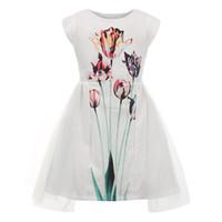 Childdkivy девушки платья лета 2019 девушки Симпатичные принцесса платье для партии Цветочные печати Mesh платье Детские платья для девочек День рождения J190712