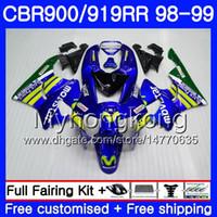 Lichaam voor HONDA CBR 900RR CBR 919RR MOVISTAR BLUE HOT CBR900 RR CBR919RR 98 99 278HM.14 CBR900RR CBR 919 RR CBR919 RR 1998 1999 VIERKINGSKIT