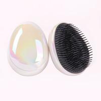 Быстрая доставка статический салон яйцо формируют блеск блеск блеска щетка для волос для волос для волос для волос стайлинг инструменты для волос демятся сглаживание