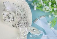 عروس الزنانير حجر الراين بلورات الزفاف حزام الزفاف أحزمة أحزمة الزفاف فساتين الزفاف الأبيض العاج اللؤلؤ الأسود