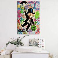 Alec Monopólios equitação Dinheiro Pop Art pintura da lona impressão Quarto Decoração moderna Oil Wall Art Painting Poster Pictures