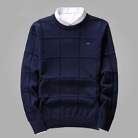 Сплошной цвет Мужские свитера пуловер мужчин О шею длинным рукавом мужская свитер свободного покроя платье бренда кашемировый трикотаж тянуть мужчина проверить человека