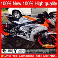 OEM Bodys Para Honda CBR1000RR CBR 1000 RR CC 1000CC 79NO.180 CBR1000 RR blanco brillante 2008 2009 2010 2011 CBR1000RR 08 09 10 11 kit del carenado