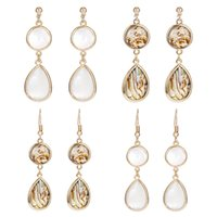 New Design Waterdrop Abalone Shell Dangle Earrings Gold Plat...