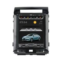 """Noyau vertical d'écran 12,1 """"DVD 7.1 de voiture de radio GPS de voiture androïde 7.1 de voiture pour Toyota Land Cruiser LC200 2008-2015 Bluetooth WIFI U"""