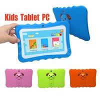 Hot Kinder Tablet PC 7-Zoll-Quad-Core-Kinder Tablet Android Allwinner A33 8GB google Spieler wifi große Lautsprecher + Schutzabdeckung Fall