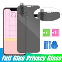 Anti-Spy récent en verre trempé pour l'iPhone 11 Pro Max X XS MAX XR 8 7 6 Plus écran Privacy Protector pour iPhone 11Pro Sans Paquet