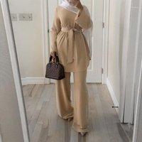 Kaftan Marocain Dubai Abaya Türkisch Set Muslim Hijab Kleid Marokkanischer Kaftan Robe Islam Elbise Islamische Kleidung für Frauen ROPA1