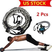 Nosotros stock, músculo abdominal rueda auxiliar de tracción por cable Gym Fitness Ab Roller bandas de resistencia Fitness Equipment FY7048