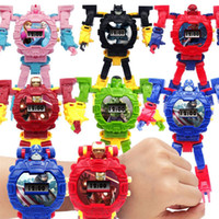 Kids Avengers Deformation Uhren 2019 Neue Kinder Superheld Cartoon Film Captain America Iron Man Spiderman Hulk Transformator Roboter Uhr