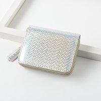6Styles короткий кошелек монета маленькие женщины девушки голограмма FFA2006 лазерный кошелек ZIP кредитной карты держатель сцепления кисточка KHEXD