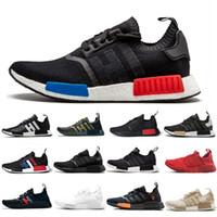 남성 여성 오레오 러너 스포츠 신발을 실행하는 2019 새로운 NMD 러너 R1 Primeknit 배 블랙 화이트 꿀벌 nmds 디자이너 EUR 36-45 스니커즈