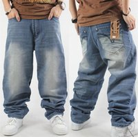 ЭМВР Стиль Большой Yards джинсы Мужской New Hip Hop мешковатые джинсы Hip свободные прямые брюки Causual Брюки Длинные