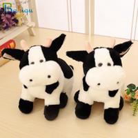 Babiqu 1pc 30cm super nette Milch-Kuh-Plüsch-Spielzeug Schöne Zodiac Kuh Shy Cattle Appease Puppe Kreative Geburtstag Weihnachtsgeschenk