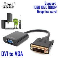 Neuer Universal-DVI-D 24 + 1 Pin-Stecker auf VGA 15 Pins weibliche Kabel Video-Konverter-Verbindungs Computer Laptop-Projektor HDTV