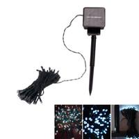 화이트 100 LED 태양열 문자열 요정 라이트 크리스마스 파티 문자열 휴일 홈 데코이션 램프 조명