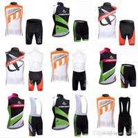 Merida 팀 사이클링 민소매 유니폼 조끼 (BIB) 반바지 세트 자전거 세트 Sike Fast Dry Racing Costume XS-4XL 9 색 C2219