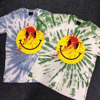 2019 Travis Scott Tie- dyed Blooding Smile Face Printed Women...