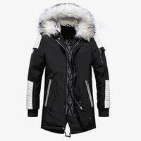 Men Winter Parkas Thick Long Jacket Casual with Hooded Men C...