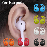 Para EarPods tapón consejos casquillo del oído de audición de silicona geles cubren con gancho de ala para el deporte auricular timbaúva eartips Eargels gancho para la oreja