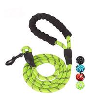 مستلزمات الحيوانات الأليفة هوك حبل دائري الكلب الجر حبل مع سلسلة الآمن عاكس الضوء الكلب الكلب النايلون حزام مناسب للكلاب متوسطة / كبيرة