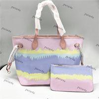 Пастельно розовый дизайнерский тотализатор с подходящим мешком для женской роскошной сумки кошельки Escale Tote для продажи галстук краситель модные сумки