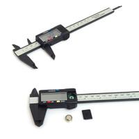 150мм 6inch LCD Цифровые электронные углеродного волокна штангенциркуль микрометр Калибровочные Пластиковый суппорт mengmeng666
