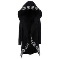 Erkekler Gotik Hoodies Artı Boyutu S-6XL Rahat Serin Siyah Tişörtü Gevşek Pamuk Kapüşonlu Çiftler Baskı Punk Hoodies